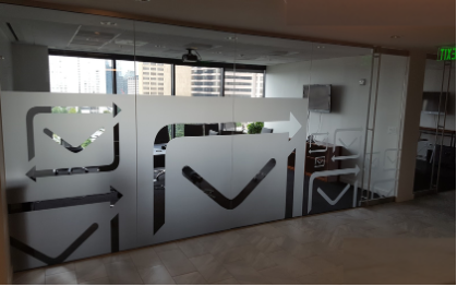 custom privacy film conference room