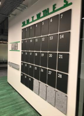 calendar wall design element