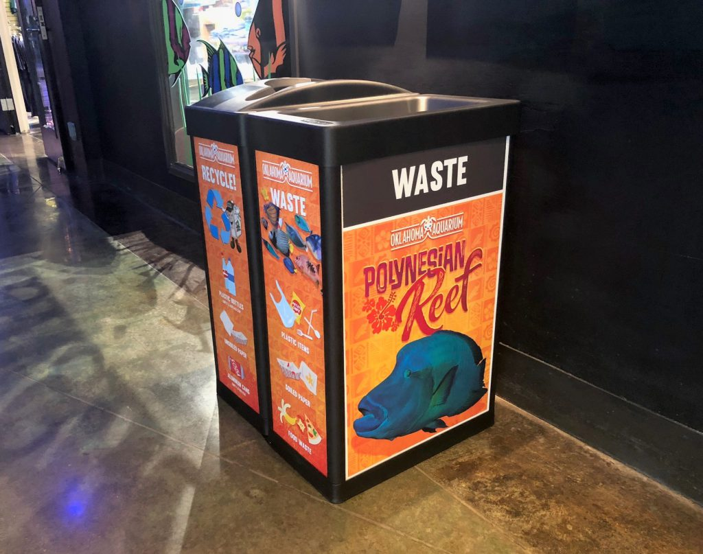ARC and Tulsa Acquarium waste baskets